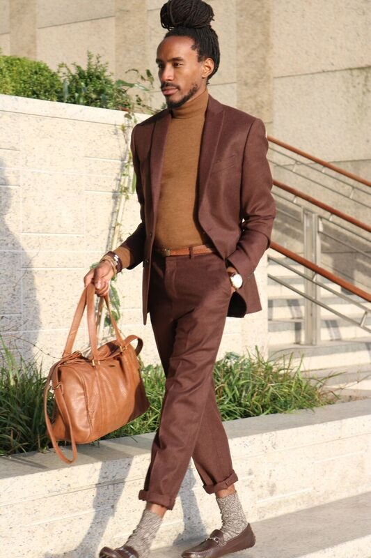 How to style a brown suit